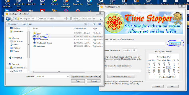 Use Trial Version Softwares Lifetime Using Time Stopper