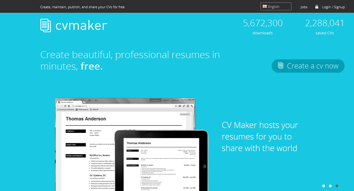 cv maker - Professional Resume Maker