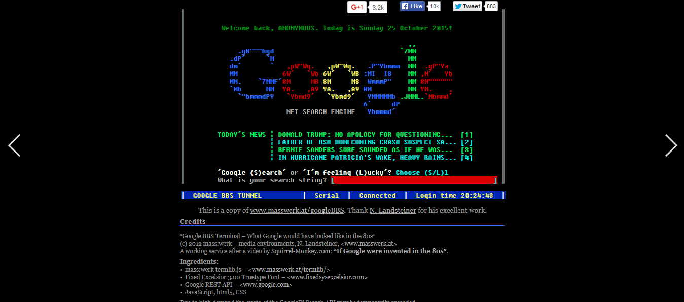 Google underwater mr doob - Google Terminal