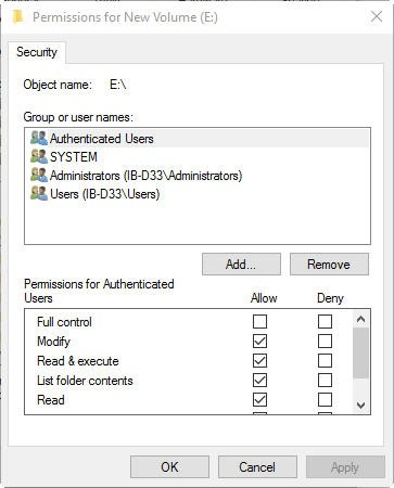 Permissions-for-New-Volume