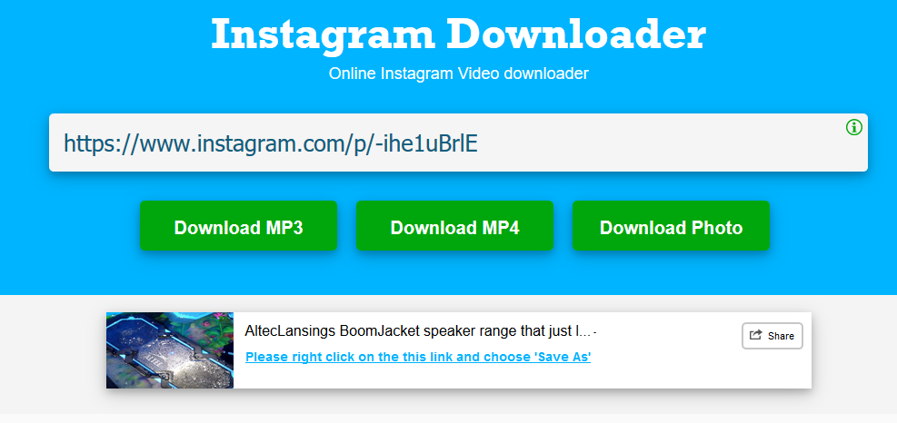 How to Save Instagram Videos Using Instagram Video/Photo