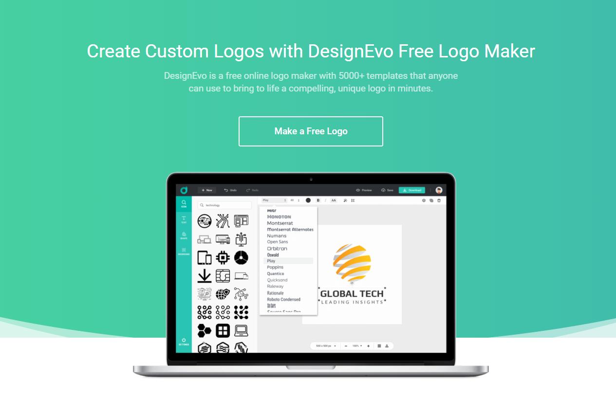 Make A Professional Logo For Your Blog With Designevo Online Logo Maker